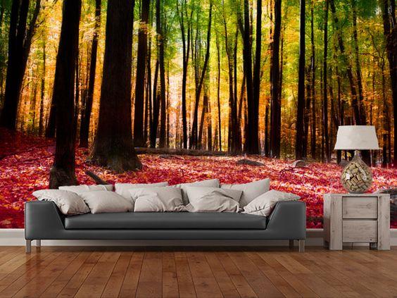 Mural wallpaper for home Forest Wallpaper