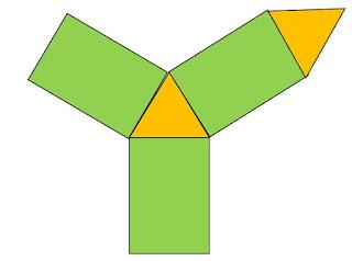 gambar jaring jaring prisma segitiga