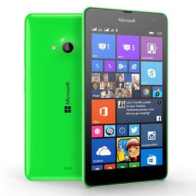 Contoh Smartophone Microsoft Lumia 535 Dual SIM Card