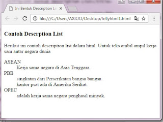 Cara Membuat Description List pada HTML