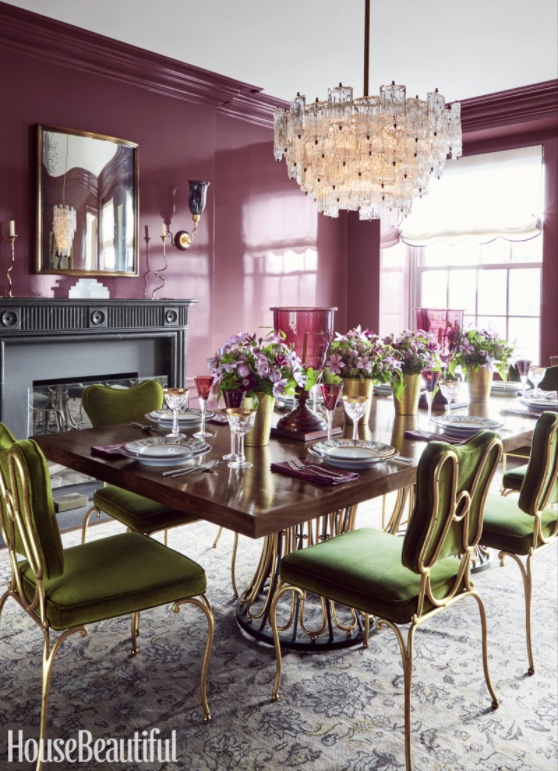 This colour scheme really caught my eye. This room is like Spring itself (herself??)! Image: House Beautiful via Kemble Interiors.