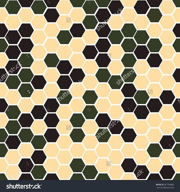 Hexagonal Camouflagevector Digital Hexagonal Camo Seamless Pattern