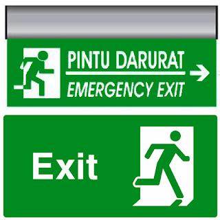 Kumpulan Gambar Tangga Darurat Emergency Exit Only