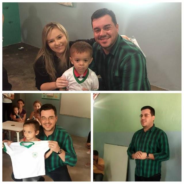 Prefeito Dr. Bruno Anastácio faz entrega de fardamento à alunos da Universidade Infantil Pedro Maria da Costa