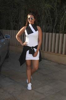 Mumbai Actress Sonakshi Sinha Long Legs Pos In White Top (1)