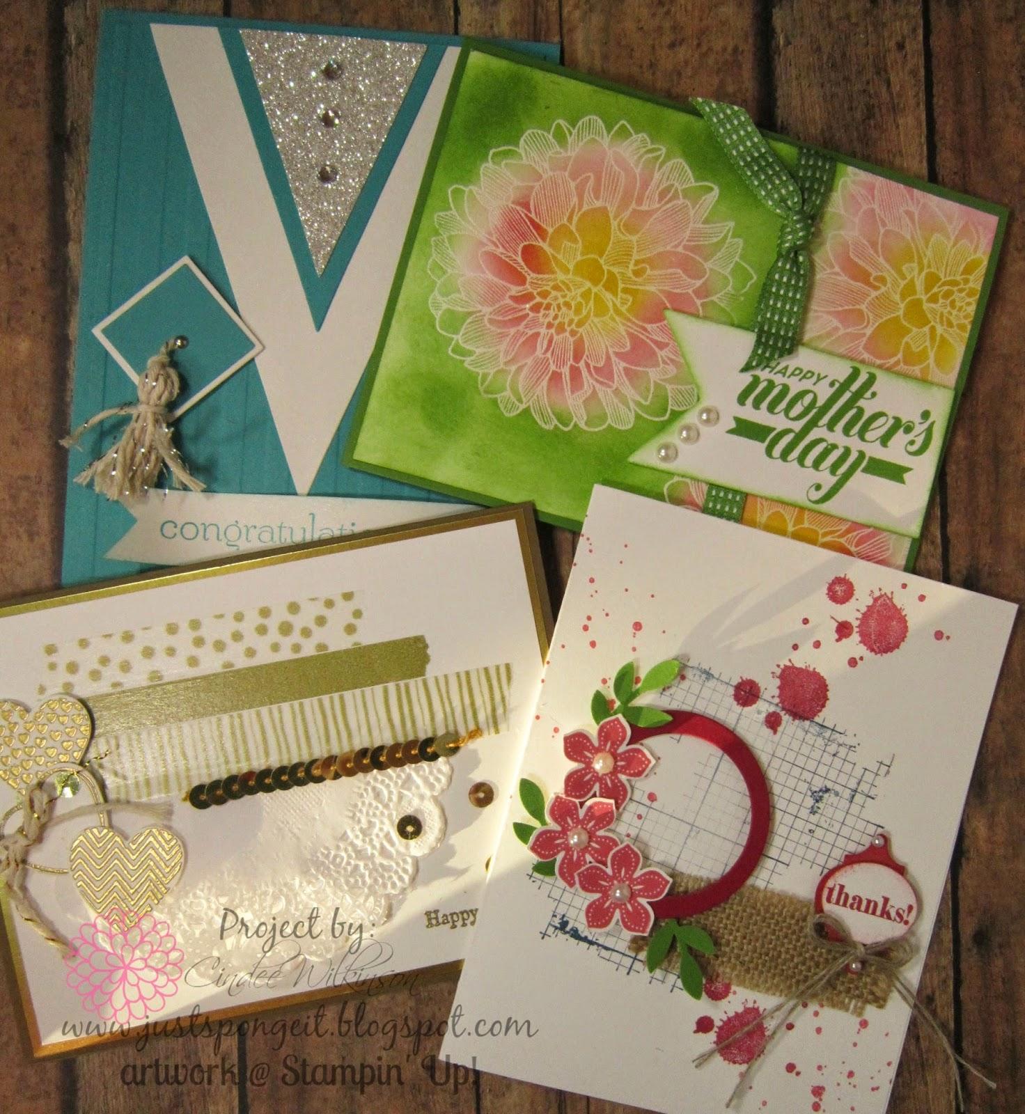 Stamp Club Cards! Hearts a Flutter! – Just Sponge It!