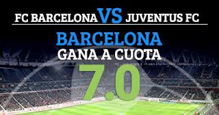Paston Megacuota 7 Barcelona gana a Juventus + 100 euros 12 septiembre
