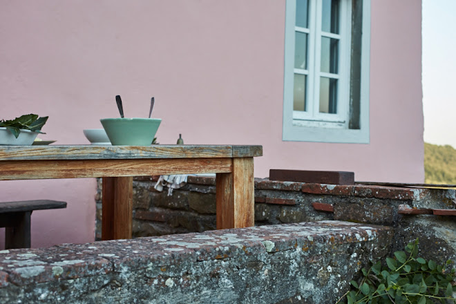 An {unintentionally} color coordinated twilight dinner in the Lucca Hills ...