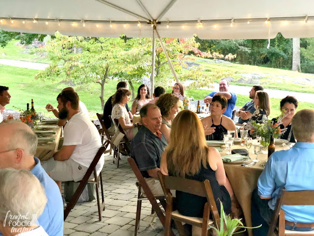 Every single farm to table dinner I have ever attended has been a family style event- rustic, yet beautifully adorned large tables that encourage guests to step out of their comfort zones & meet someone new.