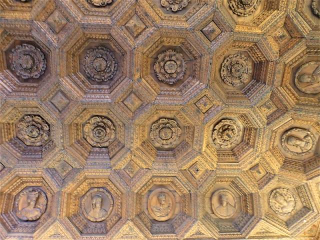Monasterio de Uclés, techo refectorio