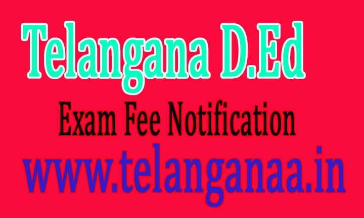 Telangana TS D.Ed II Year Exam Fee Notification 2016