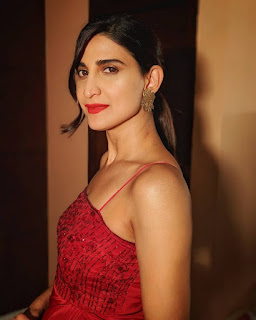 Ahana Kumra Hot Pics In Red Dress