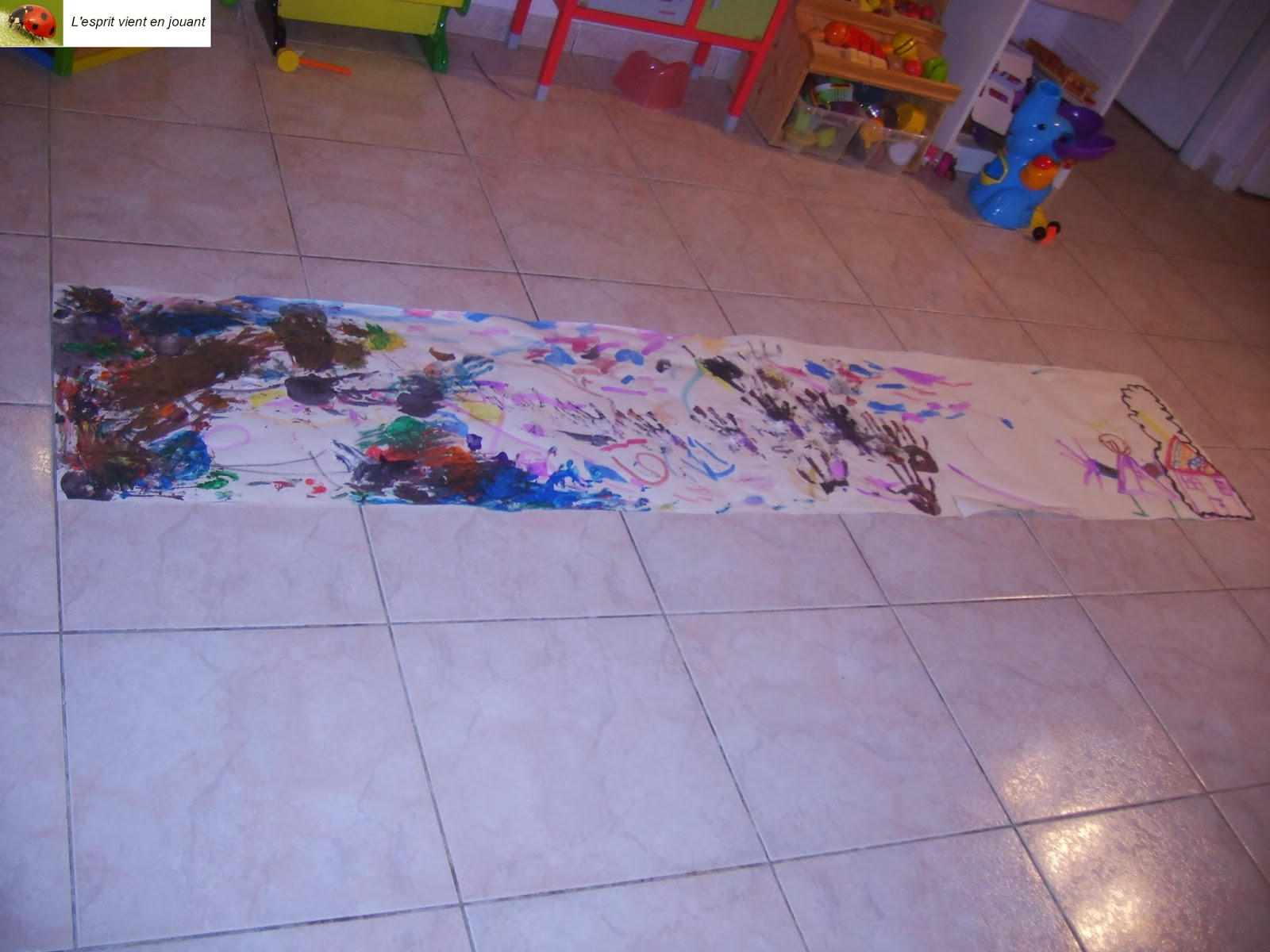 l 39 esprit vient en jouant peinture au sol. Black Bedroom Furniture Sets. Home Design Ideas