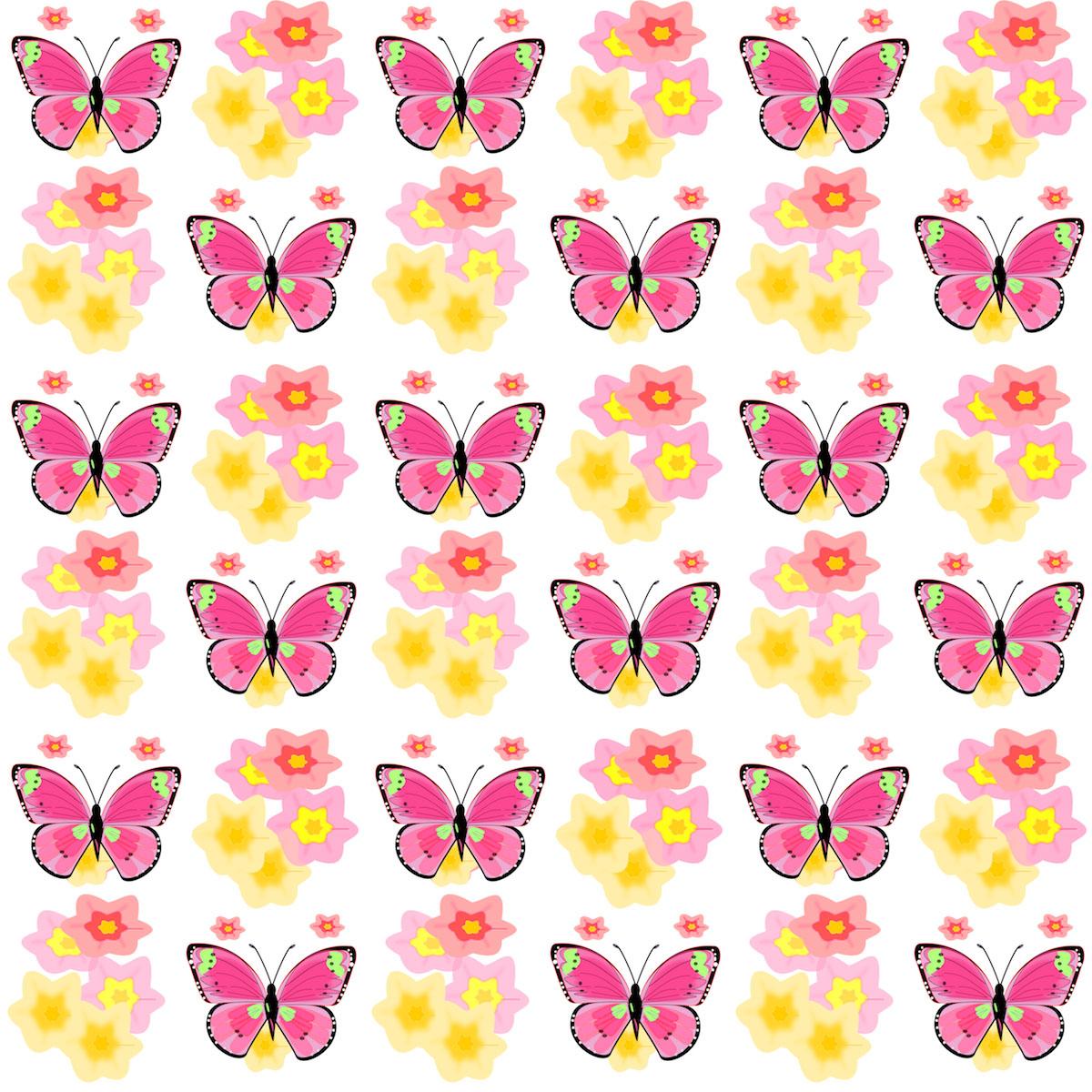 BUTTERFLY DIGITAL PAPER,Seamless Pattern,Scrapbook Paper,Butterfly Pattern butterfly art,Paper Pack,Girly Digital Paper,Digital Backdrop