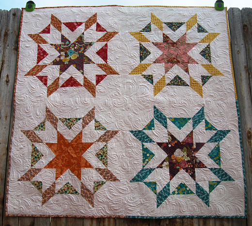 Starburst Quilt designed by Melissa Corry Happy Quilting Melissa