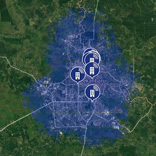 Jaringan 4G LTE AXIS di Pekanbaru