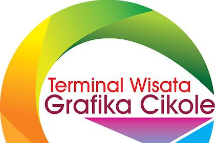 logo wisata terminal grafika cikole vektor