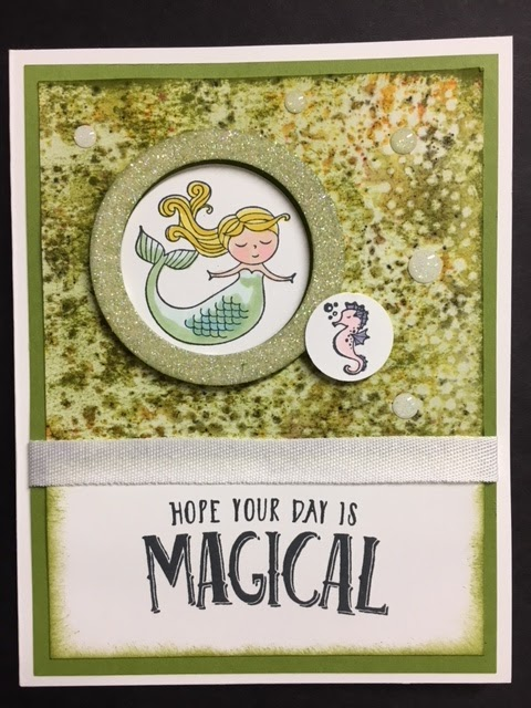 My creative corner magical day mermaid birthday card brusho magical day mermaid birthday card brusho 2018 stampin up occasions catalog bookmarktalkfo Images