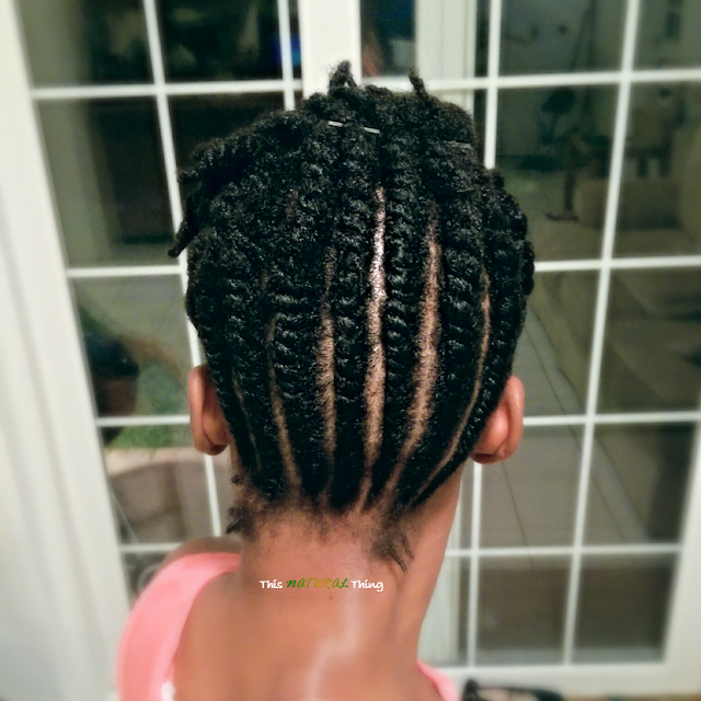 StraightForward Flat Twist Up-do for Short (Medium) Natural Hair