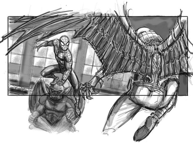 スパイダーマン4 絵コンテ