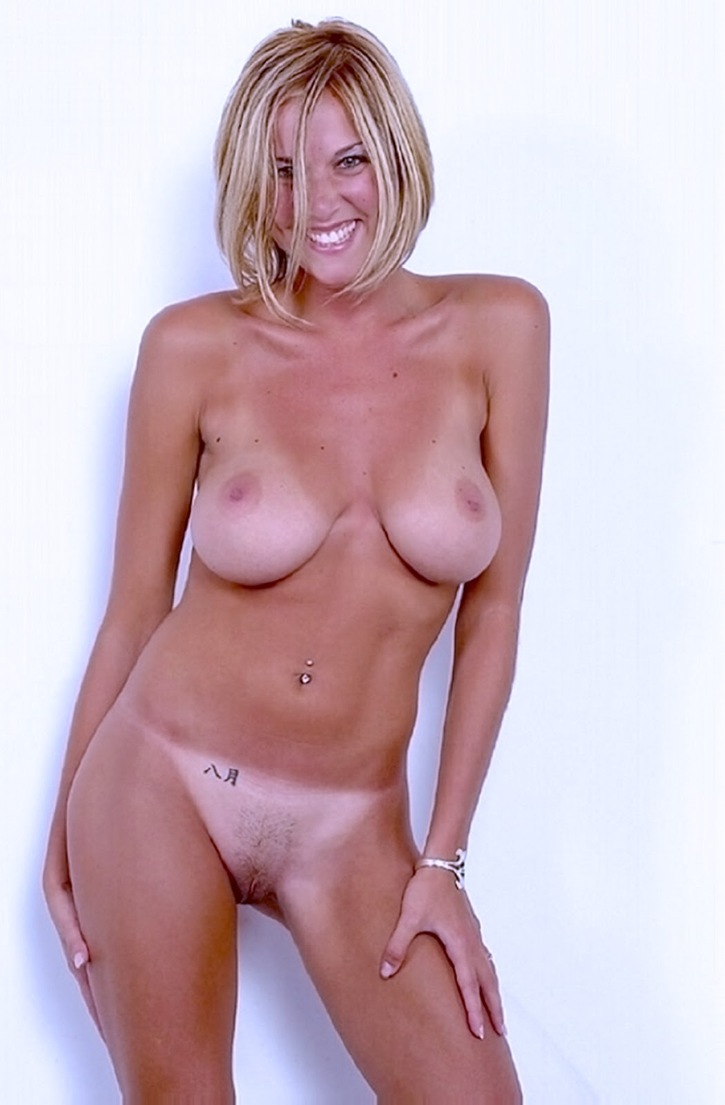 Sexy blonde milf naked in the woods