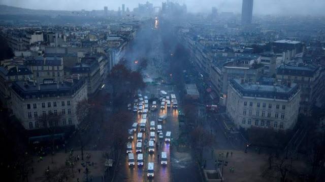Paris Ditutup, 89 Ribu Polisi Dikerahkan di Seluruh Prancis