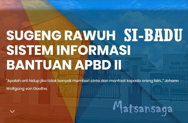 Sibadu Aplikasi Web Sistem Informasi Bantuan APBD II