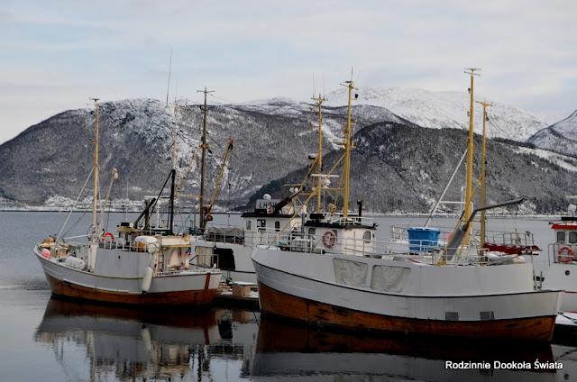 Norwegia zimą- za kołem podbiegunowym
