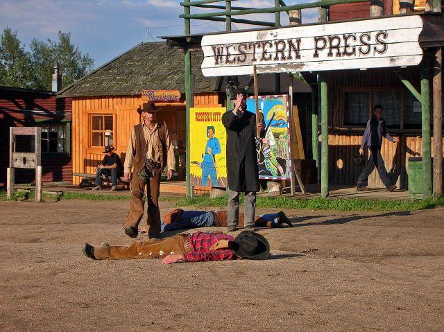 rewolwerowcy, strzelanina, kowboje, western