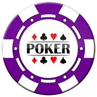 purple poker chip