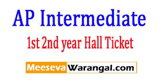 AP Inter Hall Ticket 2017 Download AP Inter 1st 2nd year Hall Ticket Download
