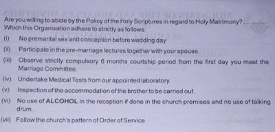 BY FIRE BY DELIVERANCE!!! SEE 10 RULES FOR WEDDING IN MOUNTAIN OF FIRE CHURCH, THE LIST WILL SHOCK YOU (PHOTOS)