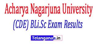 Acharya Nagarjuna University (CDE) BLi.Sc 2017 Exam Results
