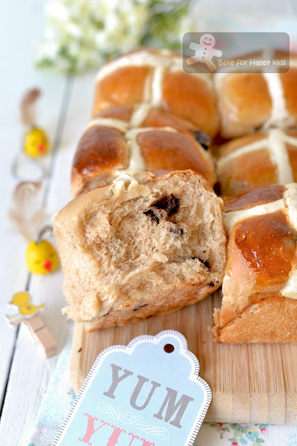 soft brioche chocolate chip hot cross buns