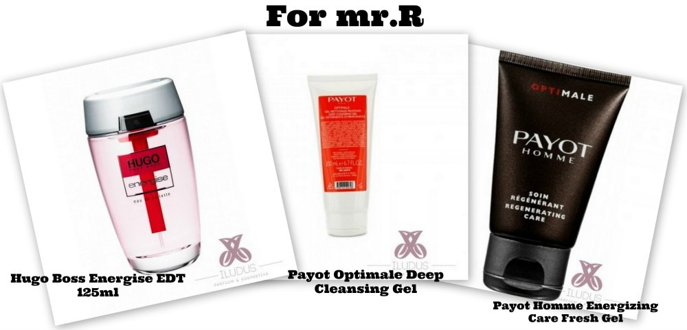 Hugo Boss Energise EDT, Payot Optimale Deep Cleansing Gel, Payot Homme Energizing Care Fresh Gel