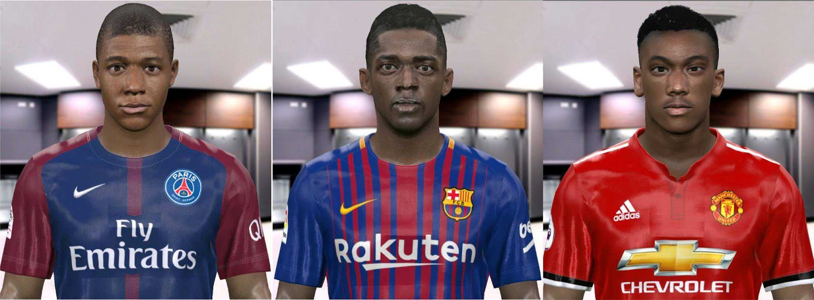 PES 2017 Wonderkid France Faces by Go'ip