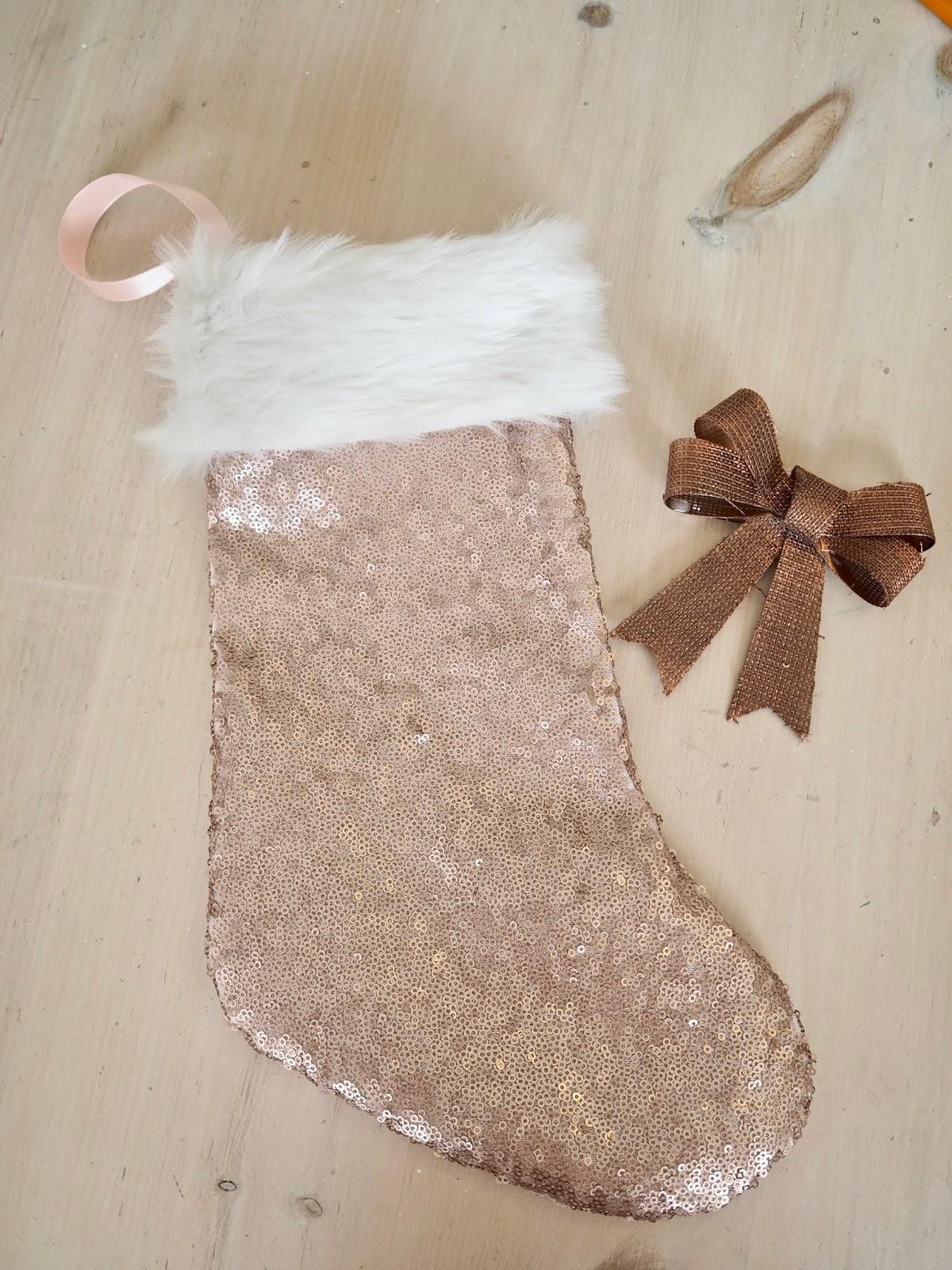Sequin Christmas Socks