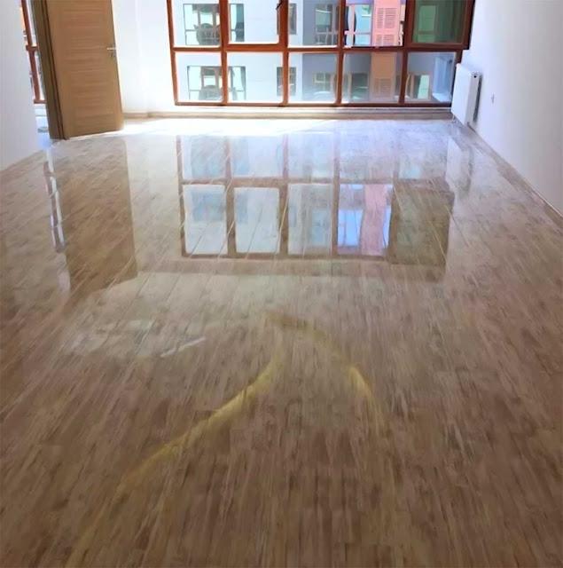 wooden epoxy floor