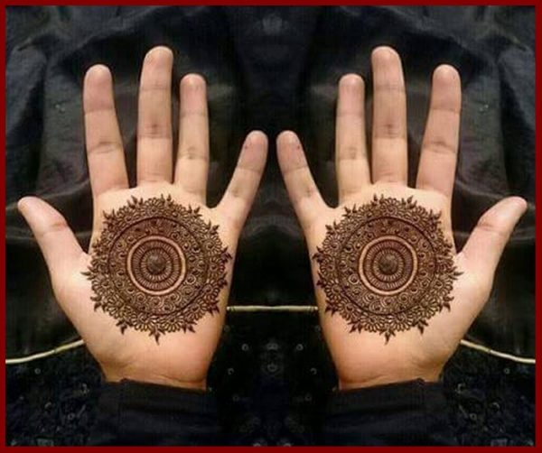 Round Shape Valentine Day Mehndi Designs: Art Magazine