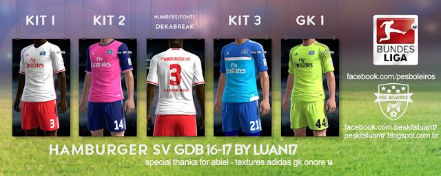 PES 2013 Hamburger SV Kit Season 2016-2017
