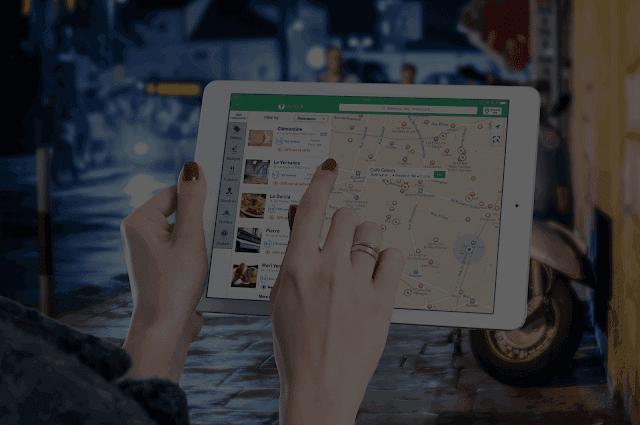 Restaurantes cerca o a mí alrededor se encuentran más fácil en Google Map