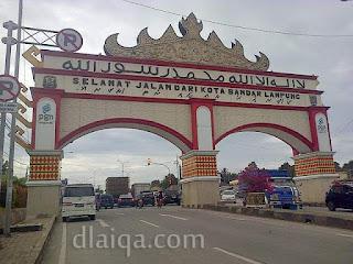 perbatasan Kota Bandar Lampung, tak jauh dari Bundaran Tugu Raden Inten