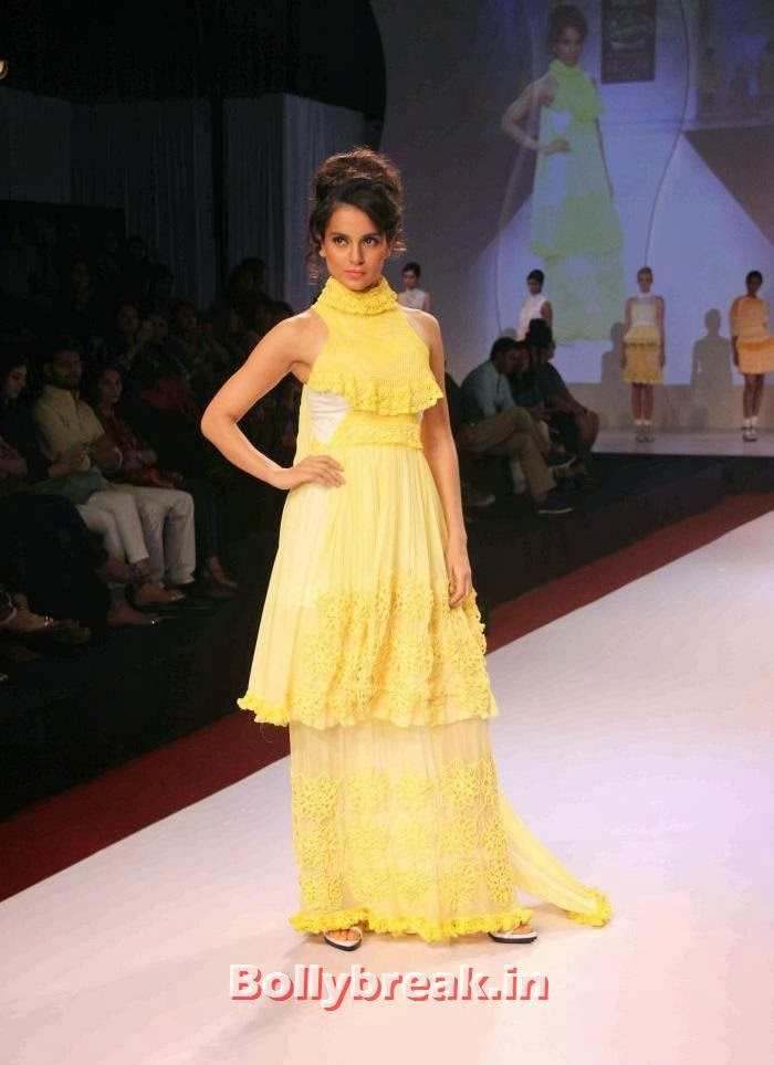 Kangana Ranaut, Kangana & Jacqueline at Signature International Fashion Weekend 2013