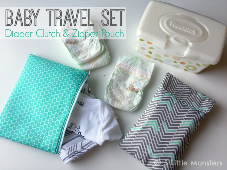 Diaper clutch and zipper pouch