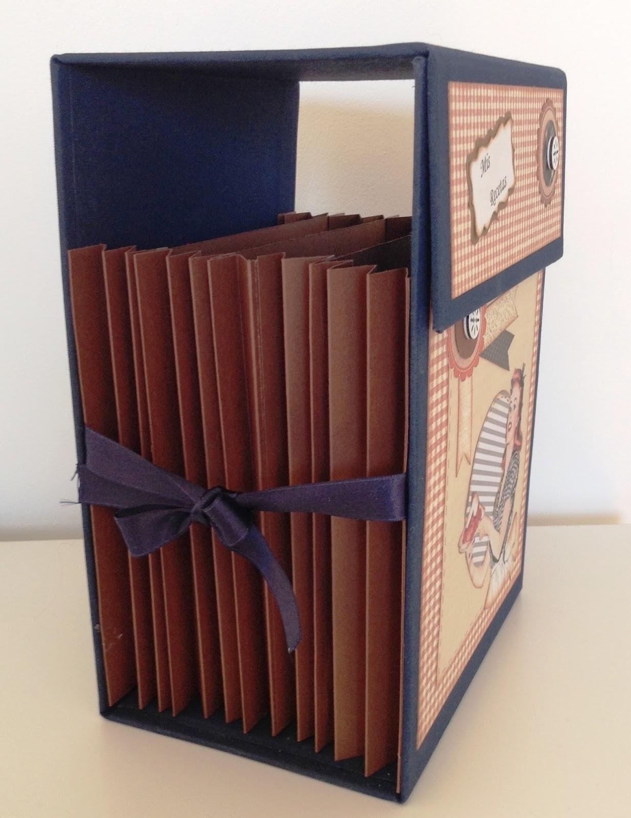 Artepapel marisart caja recetario de cocina - Cajas para cocina ...