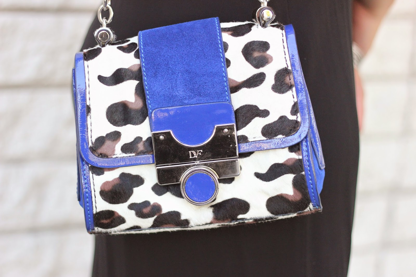 DVF Leopard Blue Bag