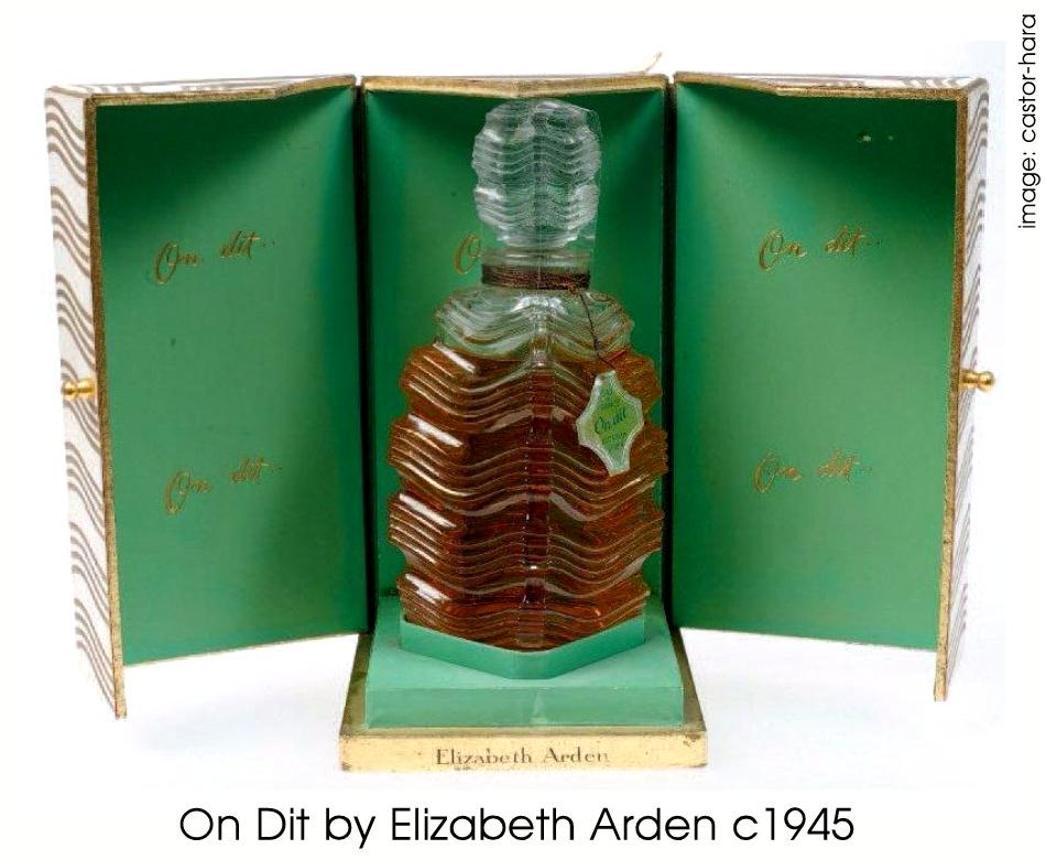 Elizabeth Arden Perfumes: On Dit by Elizabeth Arden c1937
