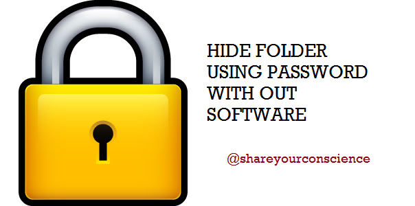 Hide folder in windows without using software.