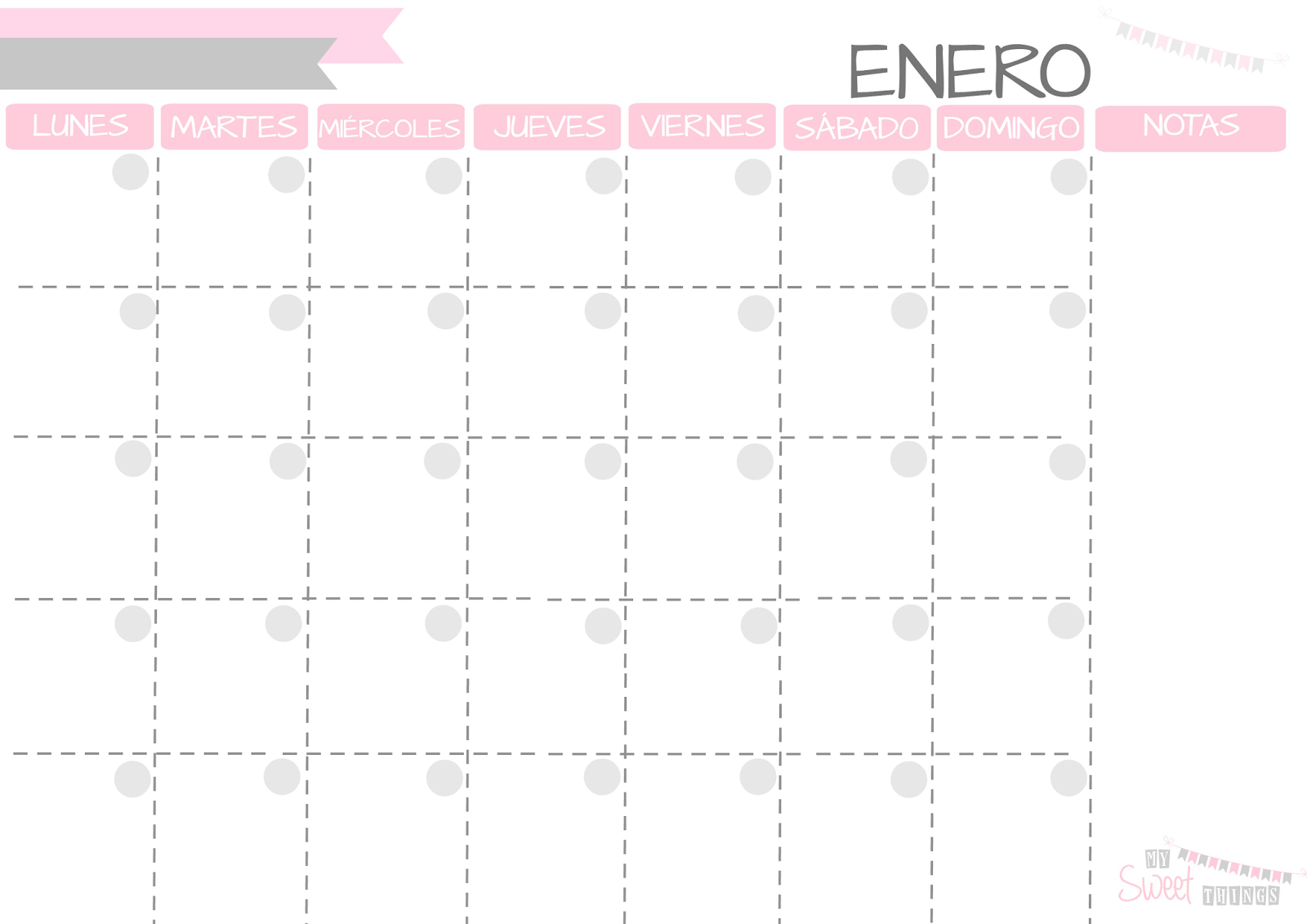 Calendario Din A4.My Sweet Things Descargable Ya Tienes Tu Calendario Para