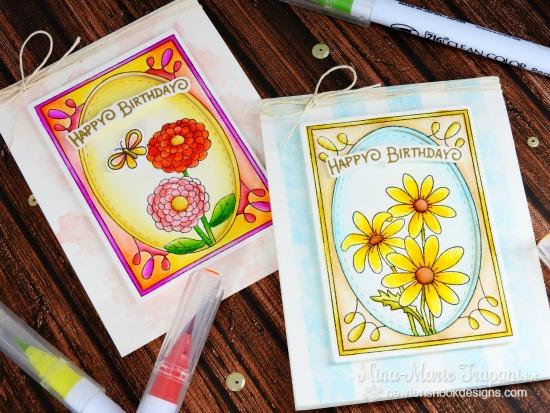 Garden Cards by Nina-Marie Trapani | Garden Starter Stamp Set & Garden Window Die | Newton's Nook Designs #newtonsnook